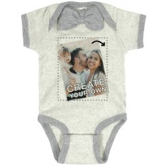 Add Your Photo Custom Bow Tie Bodysuit