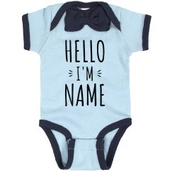 Hello Custom Name Baby Announcement