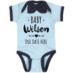 Custom Baby Announcement Add Name
