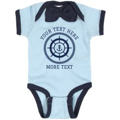 Custom Text Nautical Bodysuit