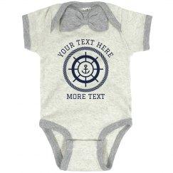 Custom Text Nautical Bodysuit