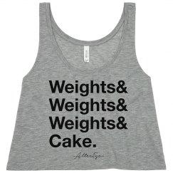 Weights & Cake Crop Top