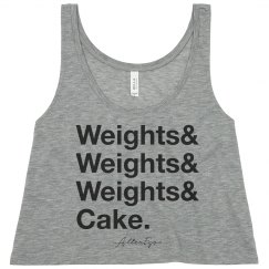 Weights & Cake Crop Top