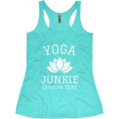 Custom Yoga Junkie Lotus Tank