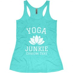 Custom Yoga Junkie Lotus Tank