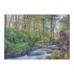 Bigfoot By A Stream 4' X 6' Area Rug