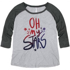 Oh My Stars Plus Sized Raglan