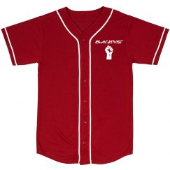 Blacktivist red jersey front