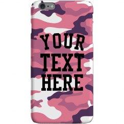 Customizable Pink Camo iPhone Case
