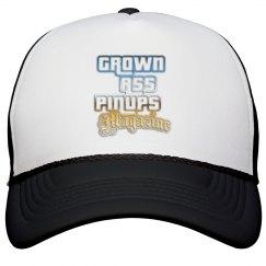GROWN ASS PINUPS MAGAZINE TRUCKER HAT