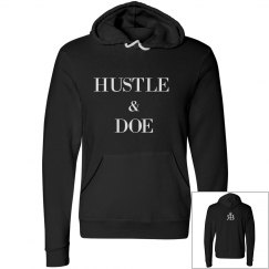 Hustle & Doe Tee- Red Bottoms Logo on back