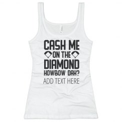 Custom Cash Me Softball Diamond