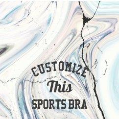 Custom All Over Print Sports Bra