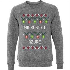 Azure Ugly Christmas Lights Sweater Grey