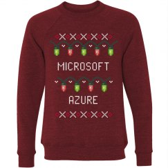Azure Ugly Christmas Lights Sweater Red