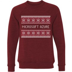 Azure Ugly Christmas Sweater Red