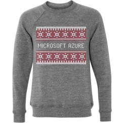Azure Ugly Christmas Sweater Grey