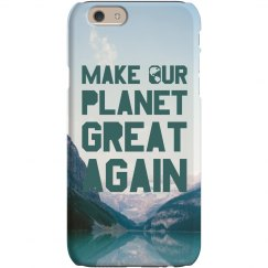Make Our Planet Greater iPhone Case