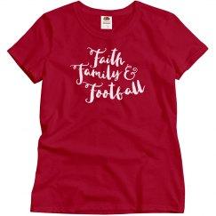 Faith Family & Football Women's Tee