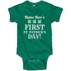 Custom Name First St Patricks