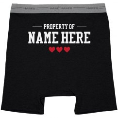 Property Of Custom Name Mens Boxers