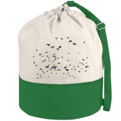 Birds flying high, you know how I feel - Beach Duffel