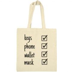 keys phone wallet mask