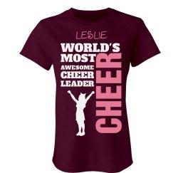 Leslie. Awesome cheerleader