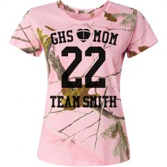Camo Football Heart Mom