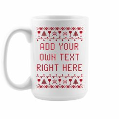 Custom Wine Ugly Sweater Themed Mug