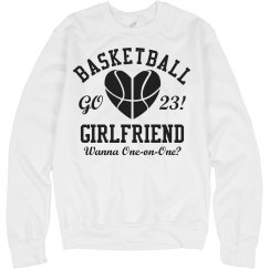 Cute Trendy Basketball Girlfriend With Custom Number