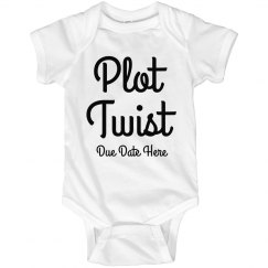 Plot Twist Custom Pregnancy Announcement Onesie