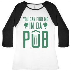 Find Me In The Pub St Pats Drinking