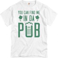 In Da Pub With St. Patrick Drinking