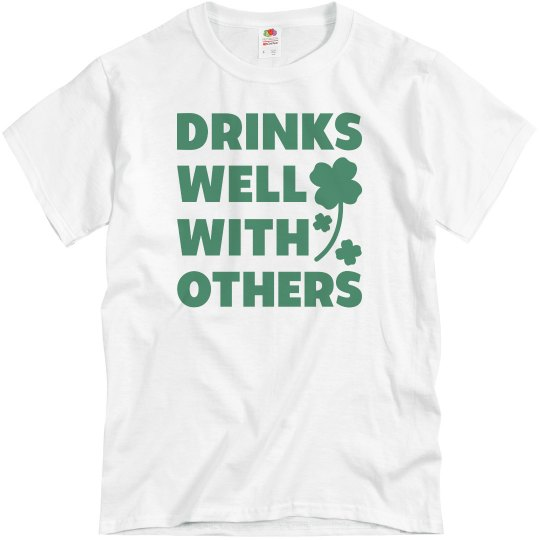 a27a37a110 Funny St. Patrick's Day Drinking Unisex Basic Promo T-Shirt