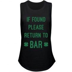 Irish If Found Please Return To Bar
