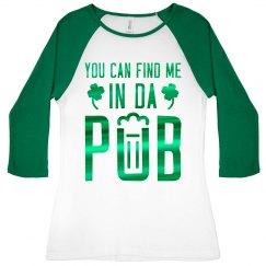 Green Metallic St Patricks Drinking