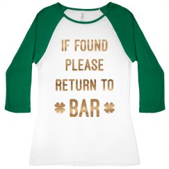 Lucky Metallic Irish Bar Drinking