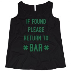 Curvy Irish Return To Bar Tank