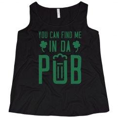 Curvy Irish Pub Girl Tank