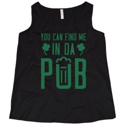 Curvy Irish Pub Girl Tank