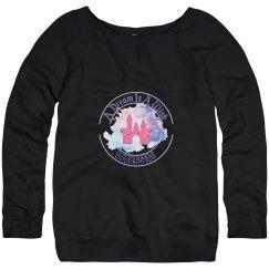ADIAW new logo wide collar sweatshirt