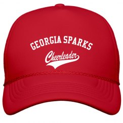 Georgia Sparks CheerleaderFILM AND FOIL SOLID COLOR HAT