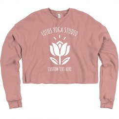 Custom Yoga Studio Lotus Flower Crop Yogi