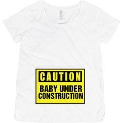 Caution Maternity Shirt