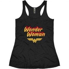 Wonder Woman Vintage Racerback