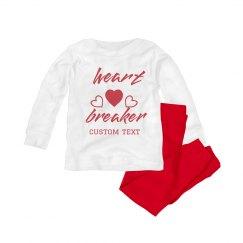Heart Breaker Custom Valentine's Baby PJs