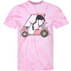 Funny Flamingo Golf Cart