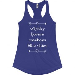 Whisky and horses cowgirl tank