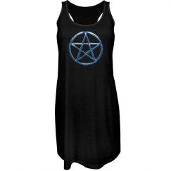 Blue Pentacle Dress